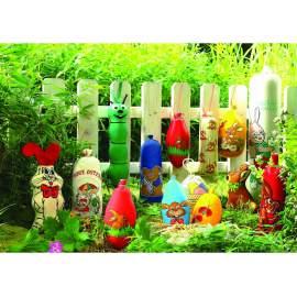 Barna nyuszi-Textilbél-10db