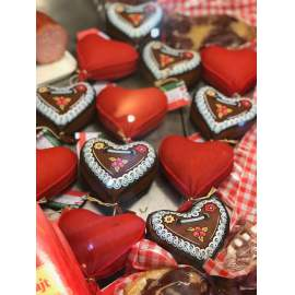 Piros szív-2db/ csomag