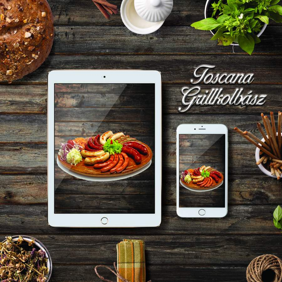 Toscana, olaszos grillkolbász-szárított paradicsom darabokkal 1,5kg